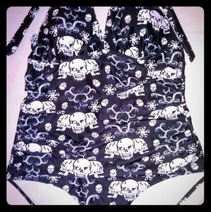 Other - Skull pattern bathing suit